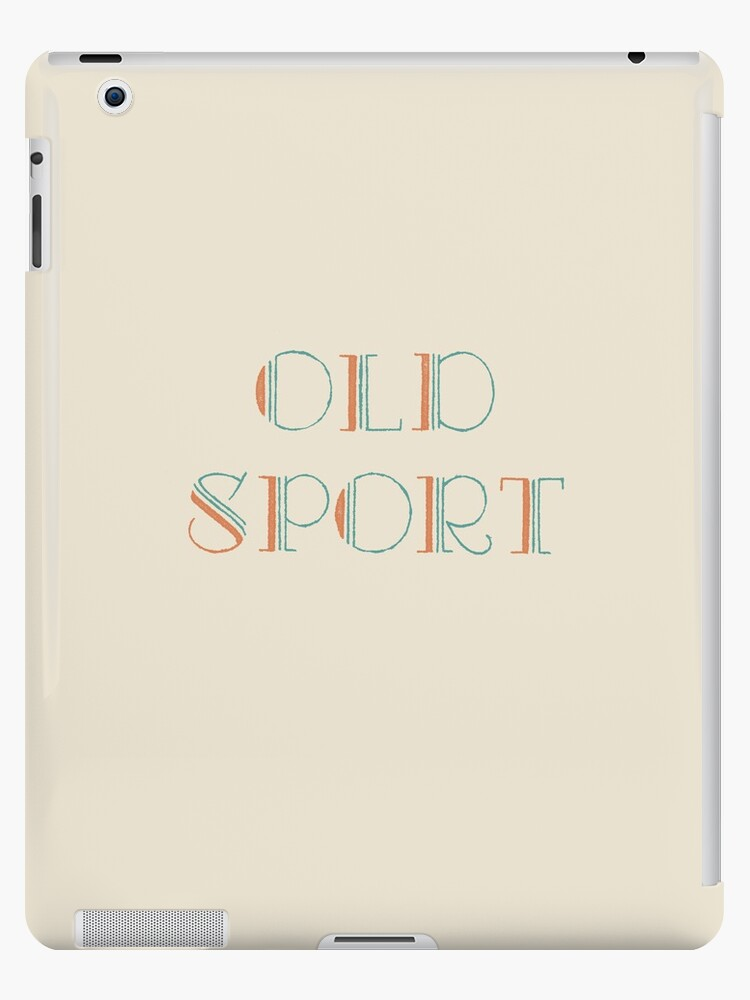 Gatsby Old Sport ipad case by nouvellegamine