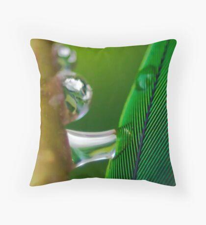 Dreams of Green Throw Pillow