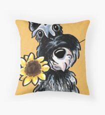 Sunny Schnauzer Throw Pillow