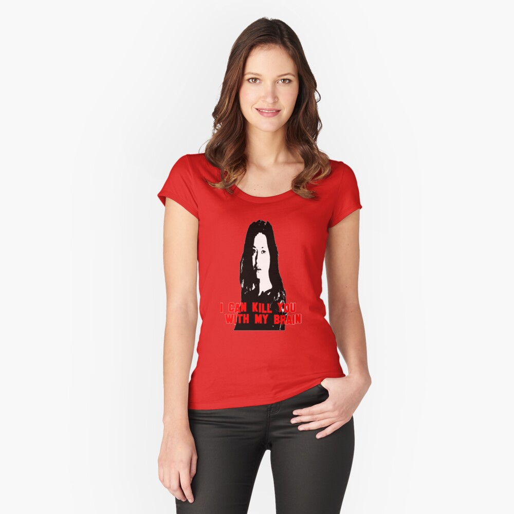 Kill You With My Brain Women's Fitted Scoop T-Shirt Front