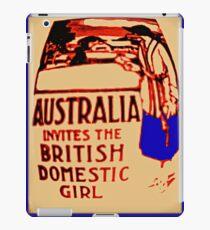 Australia invites the British domestic girl  iPad Case/Skin