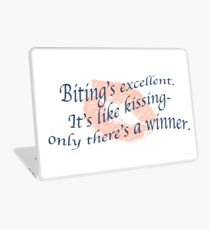 Doctor Who- Biting is like Kissing Laptop Skin