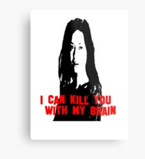 Kill You With My Brain Metal Print