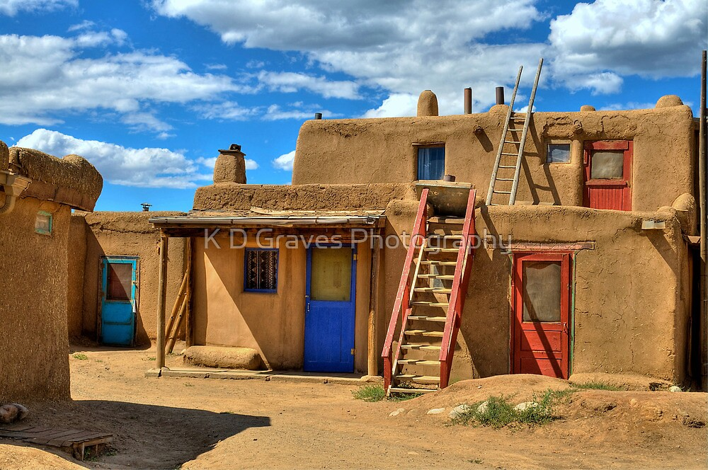 """Doors Of Taos Pueblo"" by K D Graves Photography"