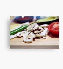 Mushrooms and other vegetables Canvas Print