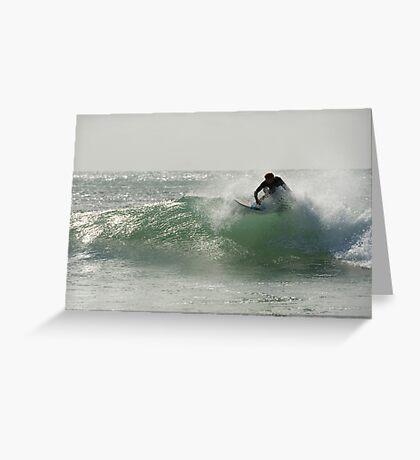 Straddie surfer Greeting Card