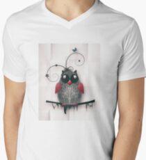 Little Owl Mens V-Neck T-Shirt