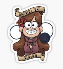 Born 2 Knit Sticker
