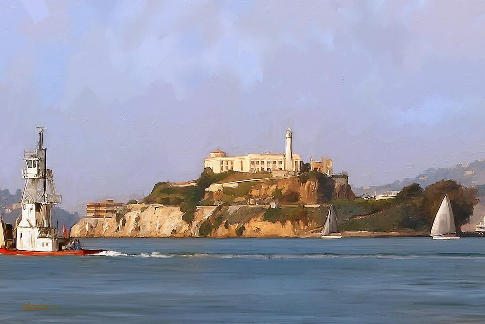 San Francisco Alcatraz from peir by twhiteart