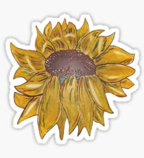 D1G1TAL-M00DZ ~ FLORAL ~ Glazed Sunflower by tasmanianartist Sticker