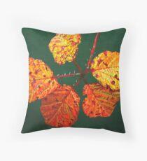 Autumnal Briar Leaves Throw Pillow