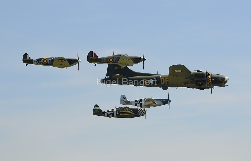 Sally B and 'Eagle Squadron' by Nigel Bangert