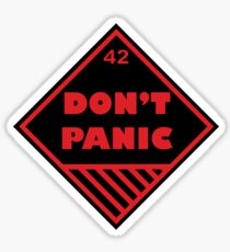 Don't Panic Shipping Placard Sticker