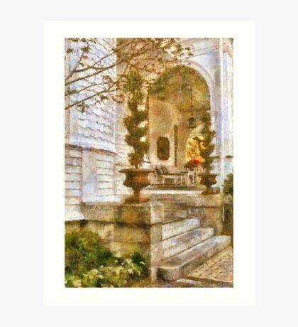 Charleston Porch - Lowcountry Comfortable Art Print