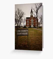 Linn County, Kansas, Courthouse Greeting Card