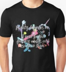 Reality Depresses Me - Noel Fielding Quote Unisex T-Shirt