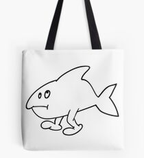 Fish with feet Tote Bag
