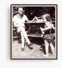 Daddy, Tricia and CrackerJack, 1959 Canvas Print