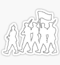 Marching Ants Sticker