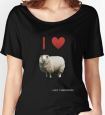 I Love Sheep - Love Yorkshire Women's Relaxed Fit T-Shirt