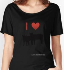 Love Lamb - Love Yorkshire - Silhouette  Women's Relaxed Fit T-Shirt