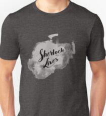 Sherlock Lives (BBC Sherlock Typography) T-Shirt