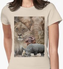 """A """"BIG 5"""" TEESHIRT DESIGN, ALL THE WAY FROM AFRICA ! Womens Fitted T-Shirt"""