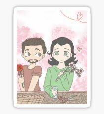 Tony and Loki, Flower Shop Sticker