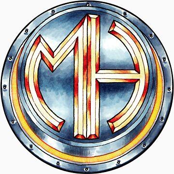 Mars Hotel Steelbutton-Logo by krimalkin