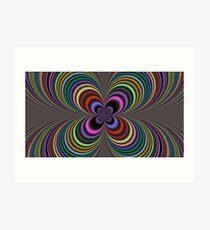 Trippy Four Leaf Clover Art Print