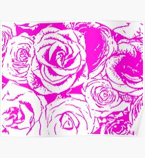Roses in Style Poster