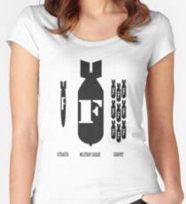 F-Bomber Women's Fitted Scoop T-Shirt