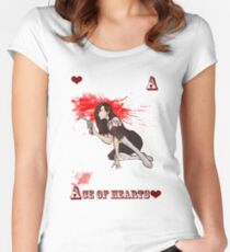 Ace of Hearts Women's Fitted Scoop T-Shirt