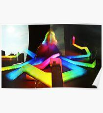 Rainbow Octopus vs Big Wheel - Lomo Poster