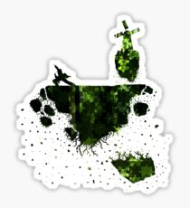floating earth Sticker
