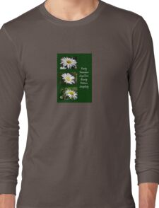 Common Daisy Collage Purity, Innocence and Love Greeting T-Shirt