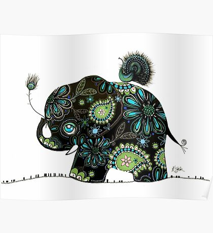 The Elephant and the Peacock Poster