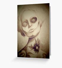 Tattooed Lady Greeting Card