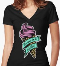 Too Cool... colour Women's Fitted V-Neck T-Shirt