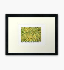 Fences with Pear Tree Framed Print