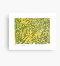 Fences with Pear Tree Metal Print