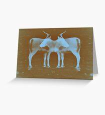 Reindeer Cross Greeting Card