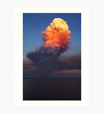 Fire Cloud - Hastings Westernport Bay Art Print