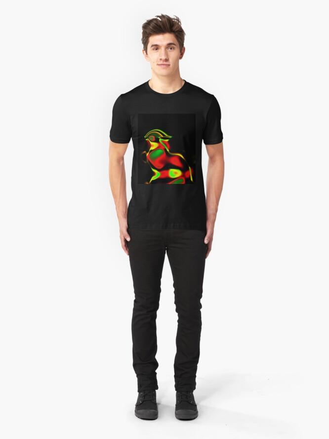 Alternate view of Pompous Chicken Slim Fit T-Shirt