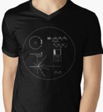 The Voyager Golden Record Men's V-Neck T-Shirt