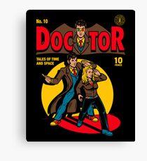 Doctor Comic Canvas Print