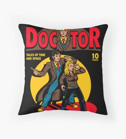 Doctor Comic Throw Pillow