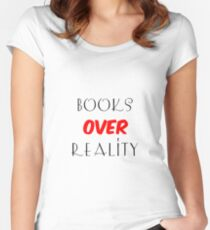 Books over Reality Women's Fitted Scoop T-Shirt