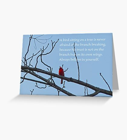 Believe in Yourself Greeting Card Greeting Card