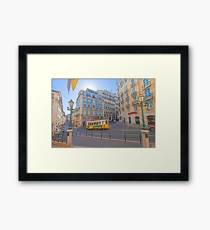 the beautiful light of Lisbon Framed Print